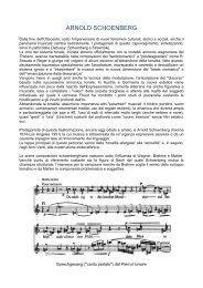 ARNOLD SCHOENBERG - Musica per gli Amici