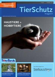 TierSchutzMagazin NR. 12 hier als PDF-Datei öffnen oder speichern.