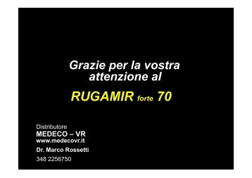 Presentazione MEDECO RUGAMIR forte 70b