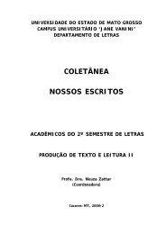Coletânea NOSSOS ESCRITOS - Unemat
