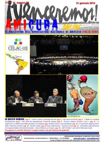 Amicuba numero 58 del 31gennaio 2013 - Associazione di amicizia ...