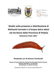 I Molluschi alieni - Provincia di Pistoia