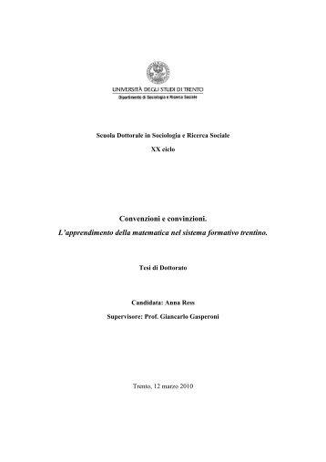 titolo del rapporto - Unitn-eprints.PhD - Università degli Studi di Trento