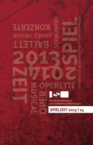 Spielzeitheft Theater Nordhausen 2013/2014