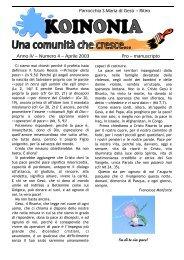 03_2003_Koinonia_Pasqua_2003 - Parrocchia Ritiro Messina