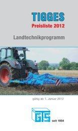 Preisliste 2012 - Gebr. Tigges GmbH & Co. KG