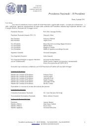 Struttura organizzativa UCID nazionale, 24 giugno 2011 - Unione ...