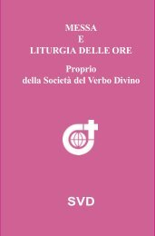 Mass and Liturgy of the Hours SVD ITA Testo Interno.pmd - SVD-Curia