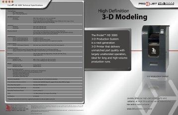 ProJet HD 3000 Brochure - 3D Systems
