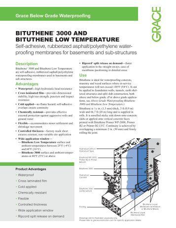 Bituthene 194 174 Liquid Membrane W R Grace Grace