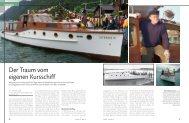 Der Traum vom eigenen Kursschiff - Marina.ch