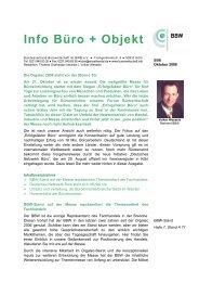 Info Büro + Objekt - BWB - Bundesverband Wohnen und Büro eV