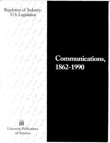 Communications, 1862-1990 - ProQuest
