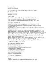 Curriculum Vitae M. DOUGLAS MEEKS Cal Turner Chancellor ...