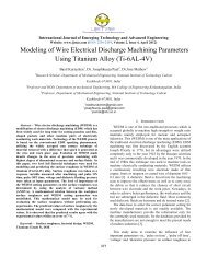 Modeling of Wire Electrical Discharge Machining ... - IJETAE