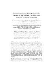 International marketing via broadband networks - Norsk Regnesentral