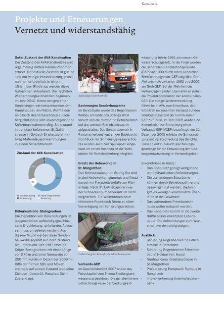 Geschäftsbericht 2009 Abwasserverband Altenrhein