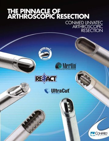 tHE PinnaCLE OF aRtHROSCOPiC RESECtiOn - Endo Protez ...