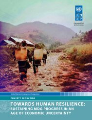 TOWARDS HUMAN RESILIENCE: - United Nations Development ...