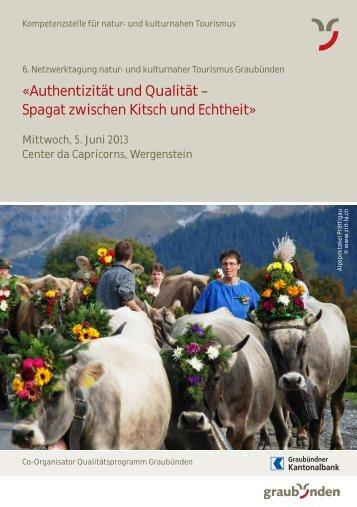 Flyer Detailprogramm (PDF, 561.25 KB) - Graubünden Qualität