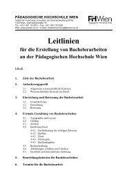 Leitlinien für die Erstellung von Bachelorarbeiten an der ...