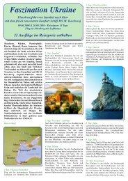 Faszination Ukraine - Reisebüro - Brück