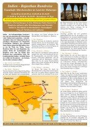 Indien - Rajasthan Rundreise - Reisebüro - Brück