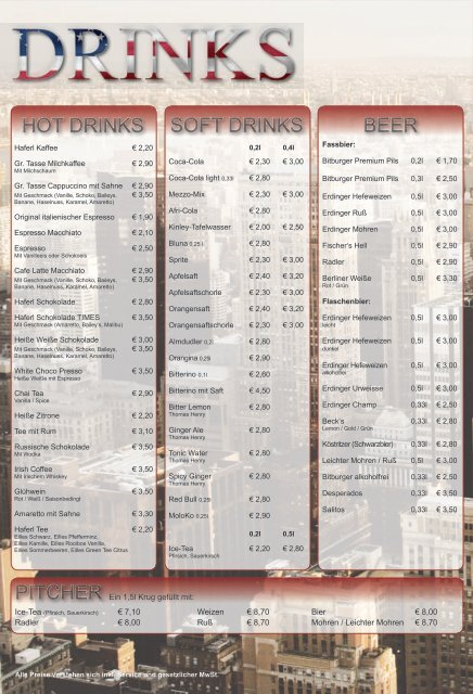 FOOD & DRINKS - Times in Kempten