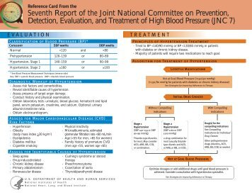 JNC 7 Physician Reference Card - National Heart, Lung, and Blood ...