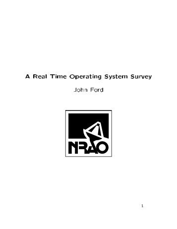 A Real Time Operating System Survey - NRAO