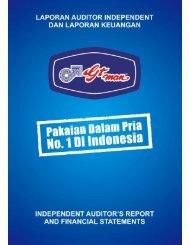 laporan auditor independent dan laporan keuangan - IDX