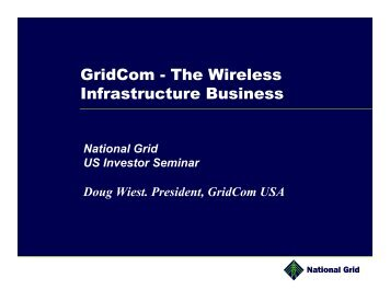GridCom - The Wireless Infrastructure Business - National Grid