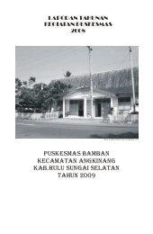 Laporan tahunan - Data Puskesmas Bamban