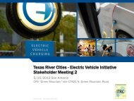 Texas River Cities - Electric Vehicle Initiative Stakeholder Meeting 1