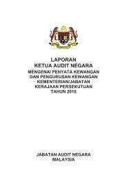 Laporan Ketua Audit Negara Mengenai Penyata ... - Azmin Ali