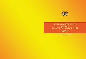 maklum balas kerajaan terhadap laporan tahunan suhakam - bheuu