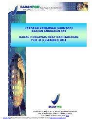 laporan keuangan - Badan Pengawas Obat dan Makanan