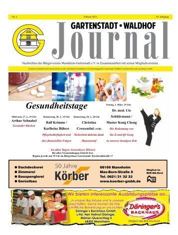 Gesundheitstage - Bürgerverein Gartenstadt