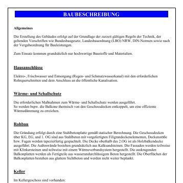 BAUBESCHREIBUNG - Ingenieurbüro Baba