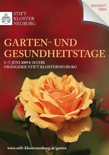 Garten- und GesundheitstaGe - Stift Klosterneuburg