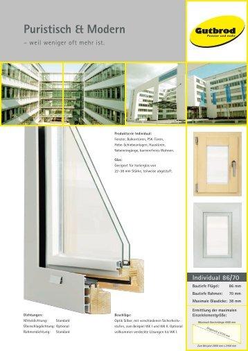 Puristisch & Modern - Gutbrod-Fenster und Türen GmbH & Co. KG