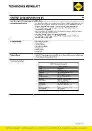 Spezialgrundierung SG, November 2011 - SAKRET GmbH