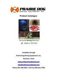 Download a Catalogue - Prairie Dog Boring Equipment