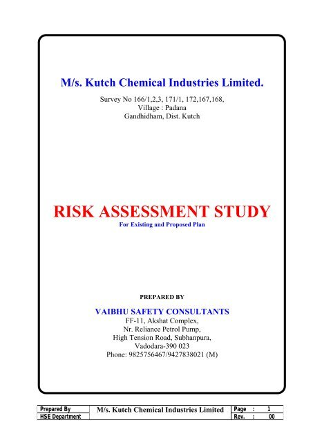 M/s  Kutch Chemical Industries Limited  - Gujarat Pollution