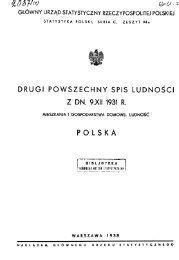 Drugi Spis Powszechny 1931 Seria C zeszyt 94a - Główny Urząd ...