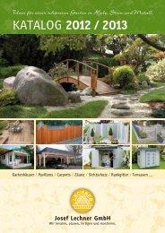 Unser Katalog im Jahr 2012/13 - Josef lechner