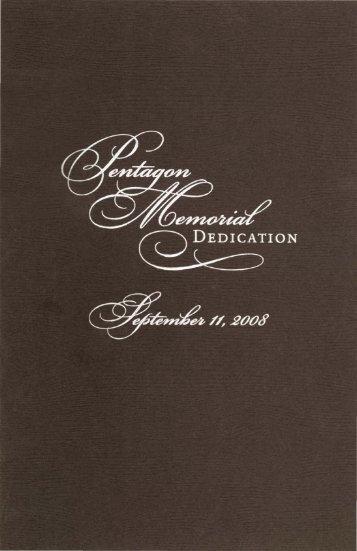 Memorial Program for the Pentagon Memorial - Voices of September ...