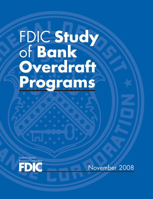 FDIC Study of Bank Overdraft Programs - Complete Report - PDF