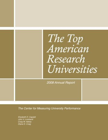 The Top American Research Universities - The Center for ...