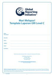 Template Laporan GRI Level C - Global Reporting Initiative
